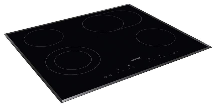 Встраиваемая варочная панель электрическая Smeg SE364EMTB Black