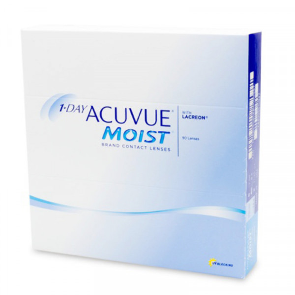 Контактные линзы 1-Day Acuvue Moist 90 линз R 8,5 -4,25