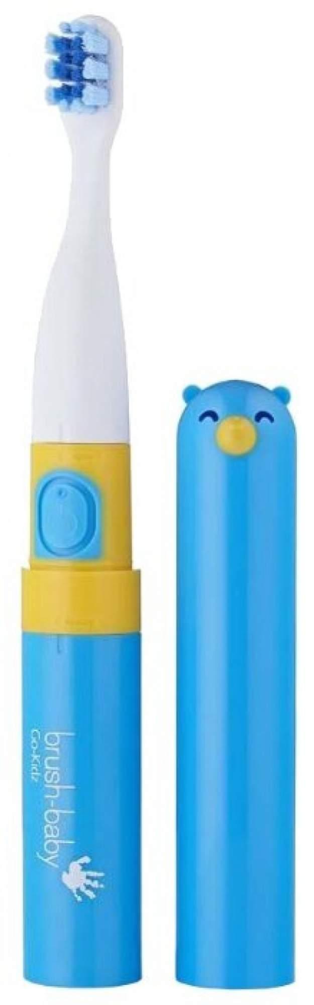 Детская электрическая зубная щетка Brush-baby Go-Kidz от 3-х лет синяя