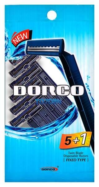 Станок для бритья Dorco TD708N Twin Blade 5 plus 1 Disposable Razors Синий