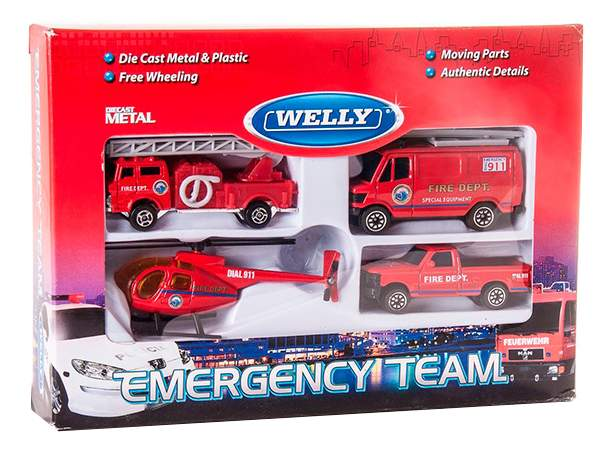 Набор машин спецслужб Welly 98630-4c