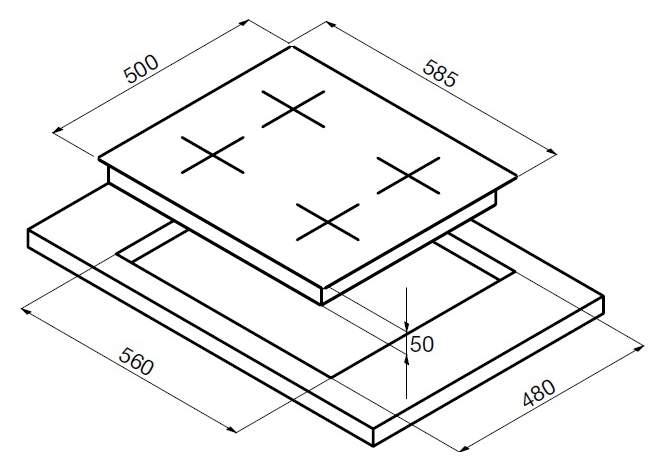 Встраиваемая варочная панель газовая Korting HG 630 CTSI White