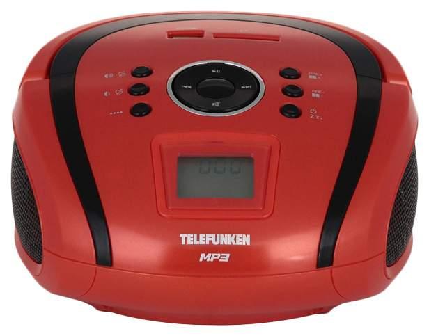 Магнитола TELEFUNKEN TF-SRP3451 Красный черный