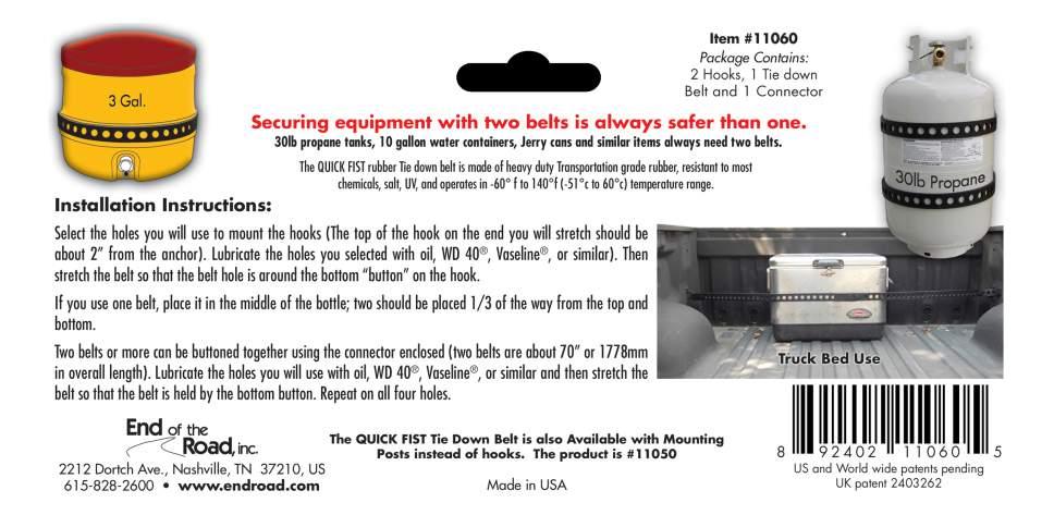 Крепление груза и багажа QUICK FIST 1шт 11060
