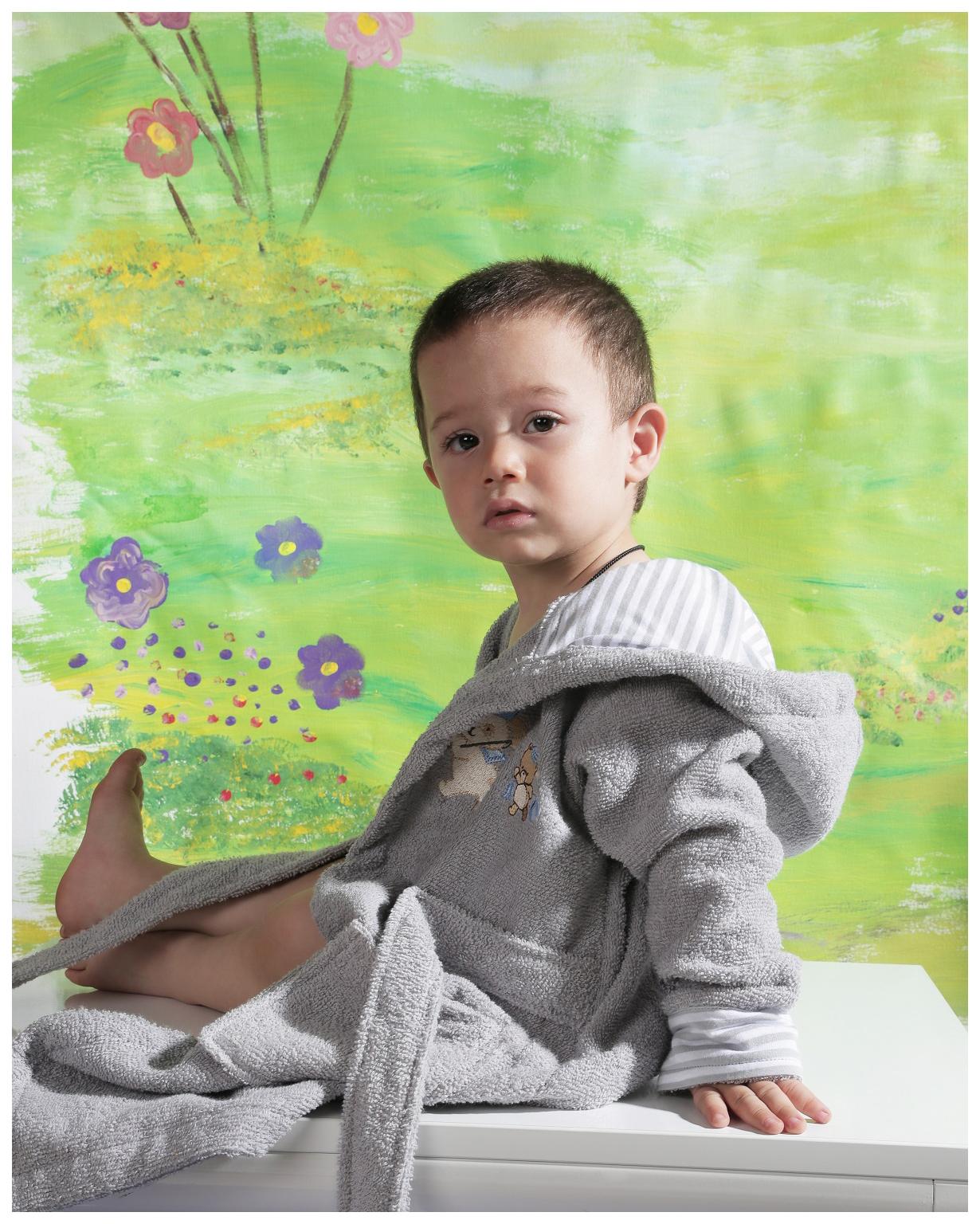 Халат детский KARNA, цв. серый р.92
