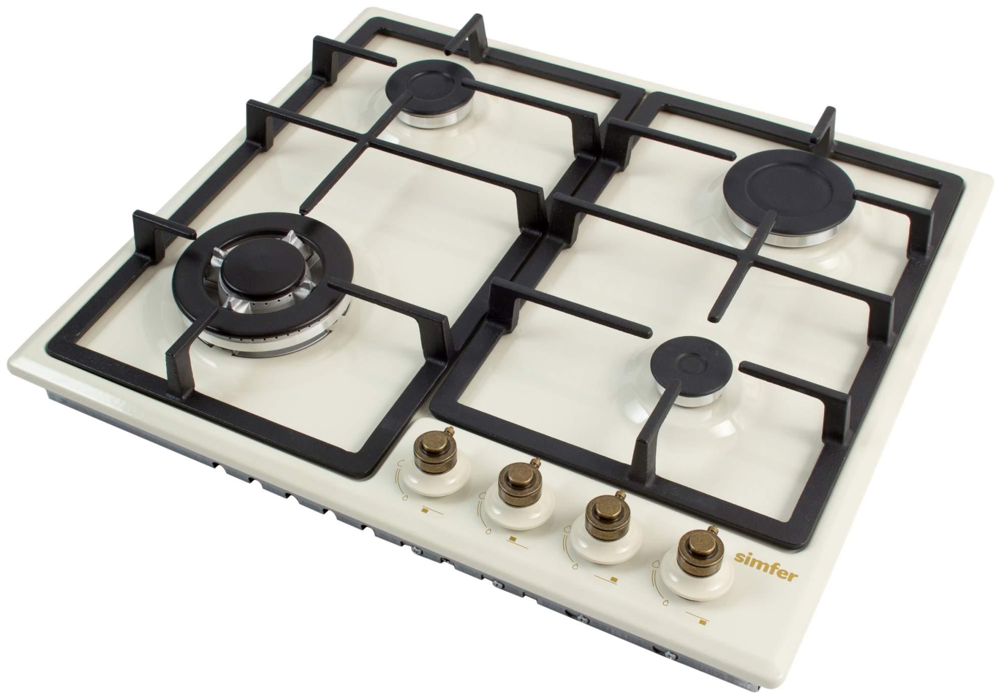 Встраиваемая варочная панель газовая Simfer H60S41O417 Beige