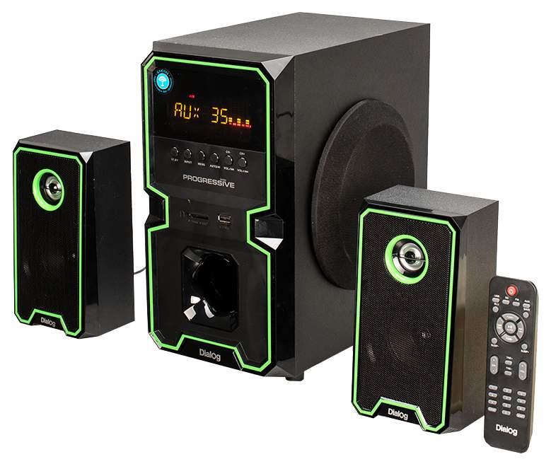 Колонки для компьютера Dialog AP-222B 2x10 + 30 Вт черные