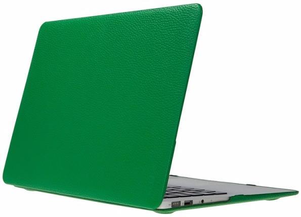 "Чехол для Macbook Pro 13"" Heddy Leather Hardshell green"
