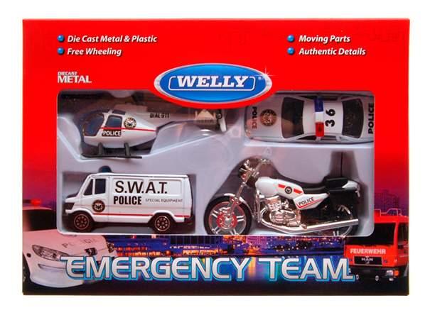 Набор машин спецслужб Welly 98630-4a Полиция