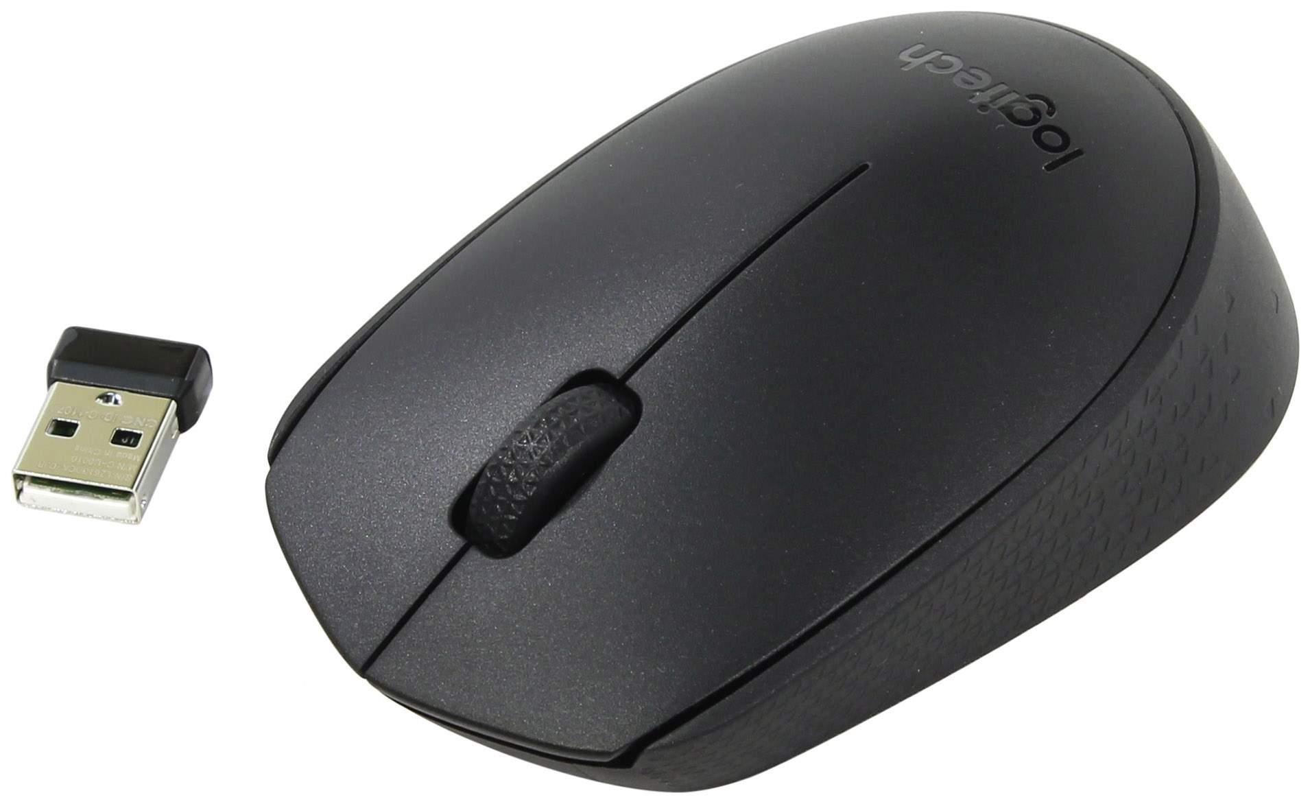 Беспроводная мышка Logitech B170 Black (910-004798)