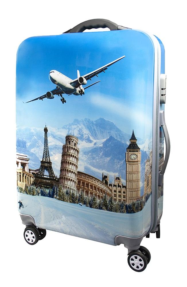 чемодан с картинками самолет желаю