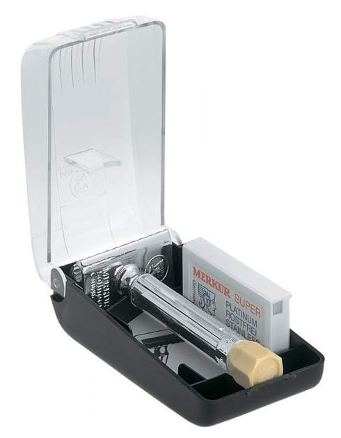 Станок для бритья Merkur с удлиненной ручкой и регулировкой угла наклона