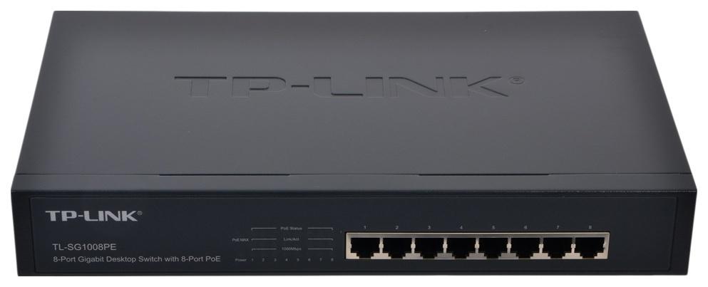 Коммутатор TP-LINK TL-SG1008PE Черный