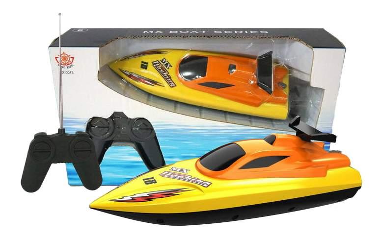 Радиоуправляемый катер Han Xing Toys Катер желтый MX-0013-2
