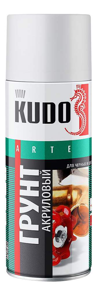 Фотография Грунт универсальный KUDO KU2101 серый акриловый 520 мл №1
