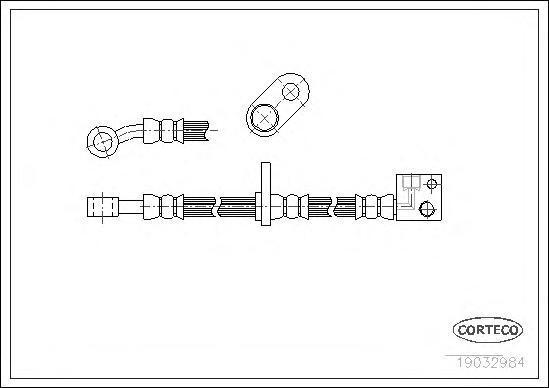 Шланг тормозной Corteco 19032984
