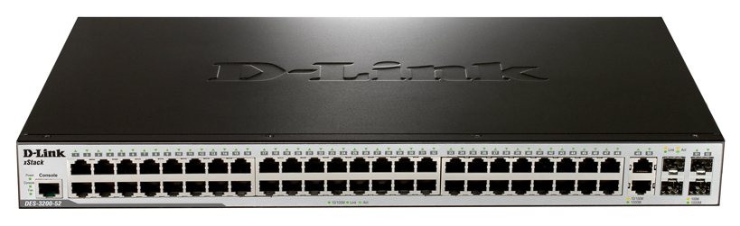 Коммутатор D-Link DES-3200-52/C1B Black