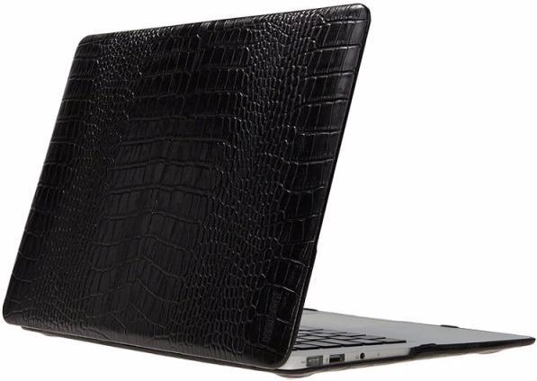 "Чехол для Macbook Pro 15"" Heddy Leather Hardshell croco black"