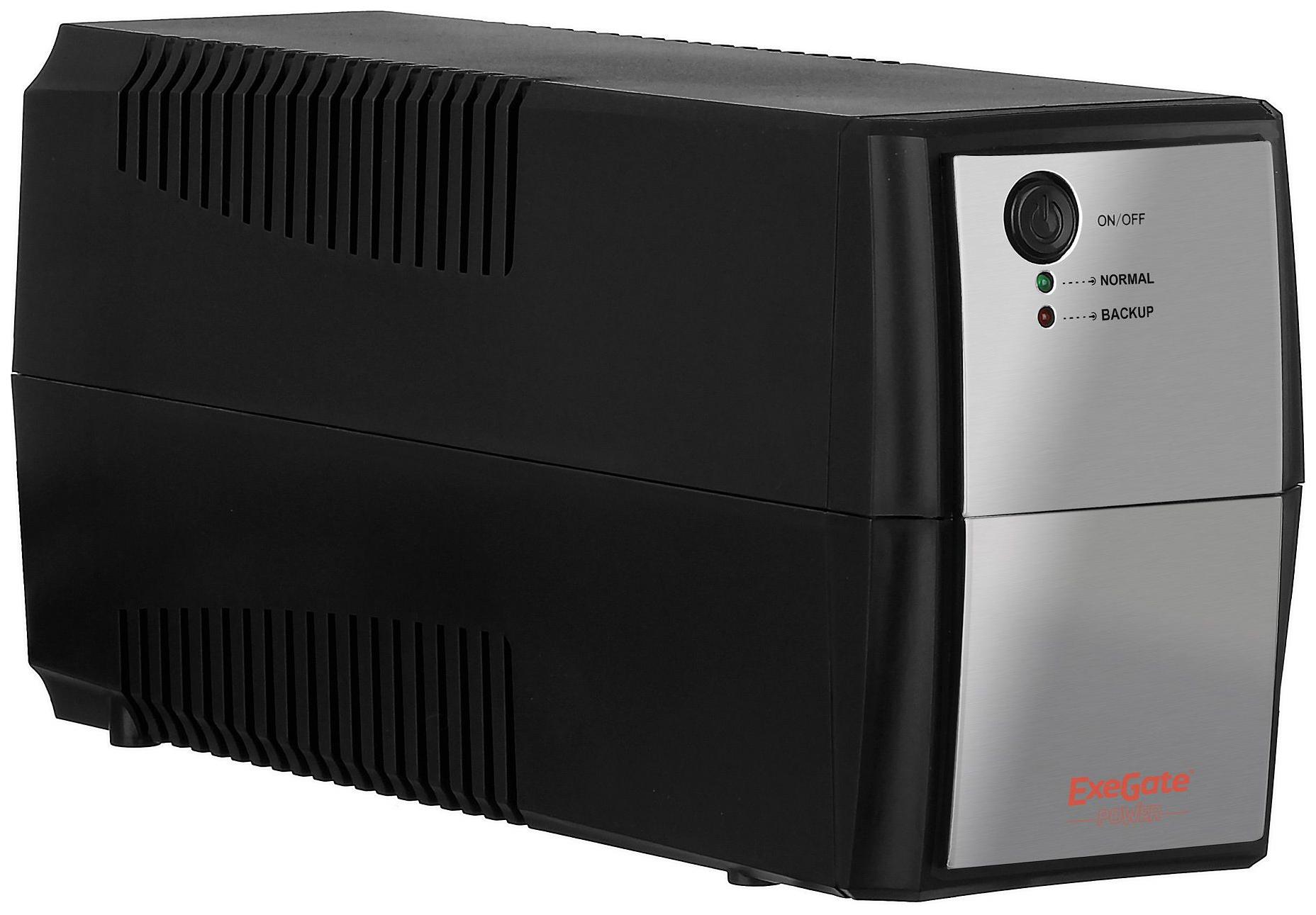 Источник бесперебойного питания ExeGate Power Back BNB-600 600VA Black-Silver