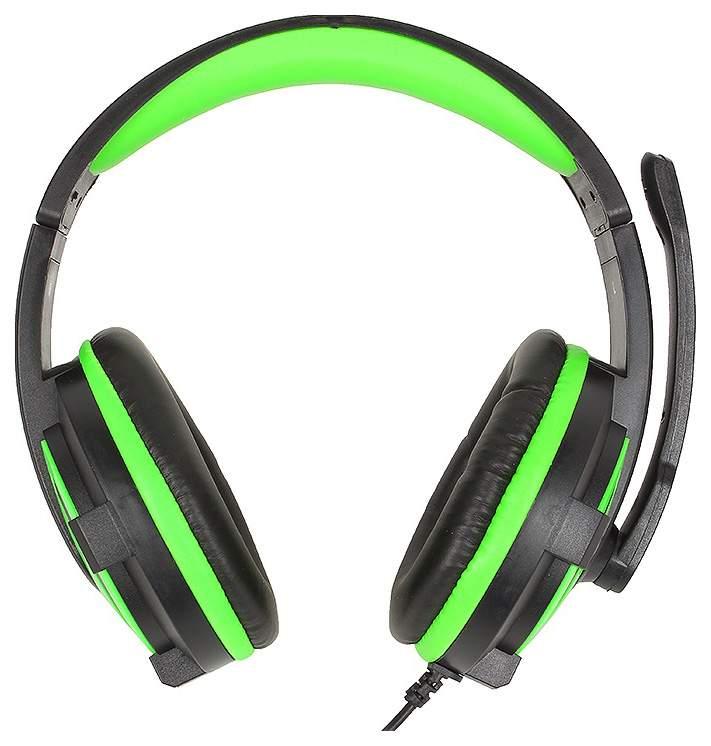 Игровые наушники Defender Warhead G-300 Green/Black