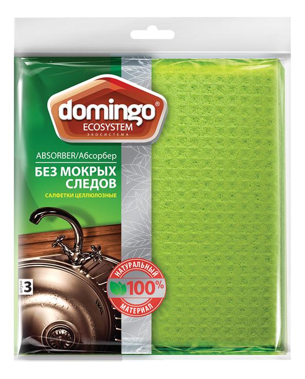 Салфетка для уборки Domingo Абсорбер 17x18 см 3 шт
