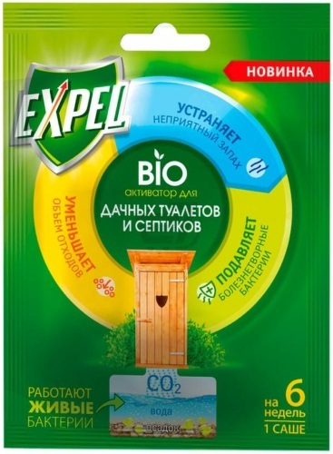 Биоактиватор для дачных туалетов и септиков EXPEL TS0002