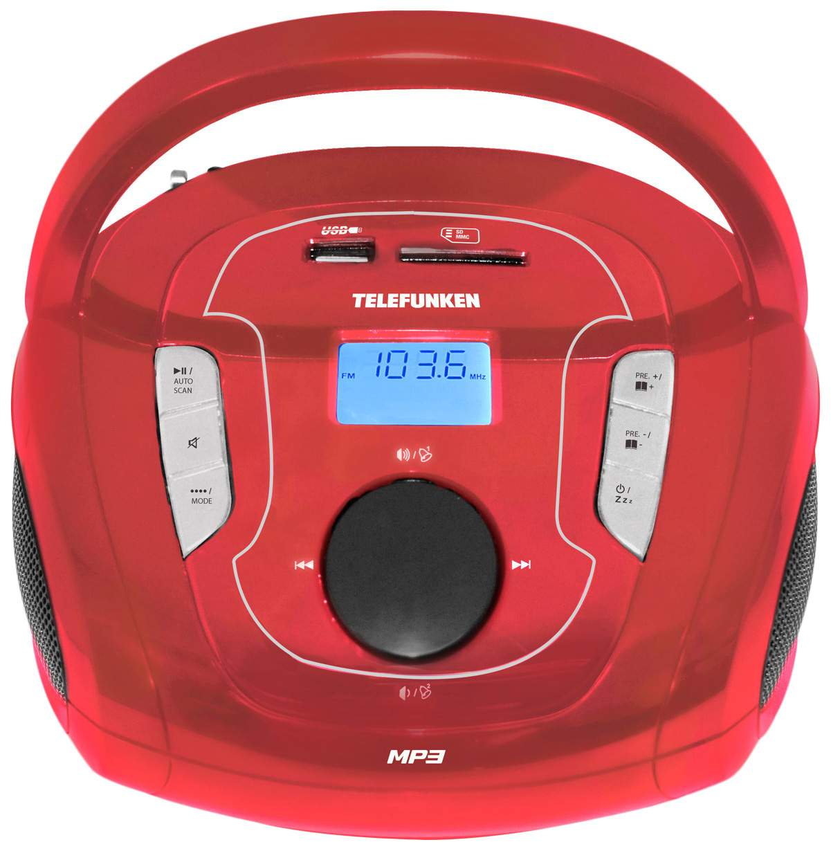 Магнитола TELEFUNKEN TF-SRP3471B Красный