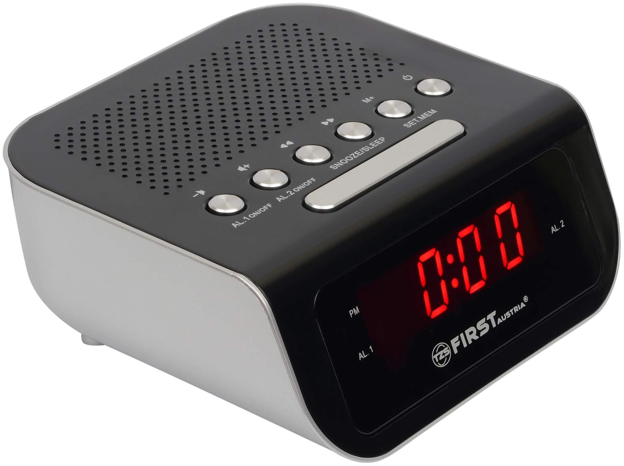 Радио-часы First FA-2406-1 Black