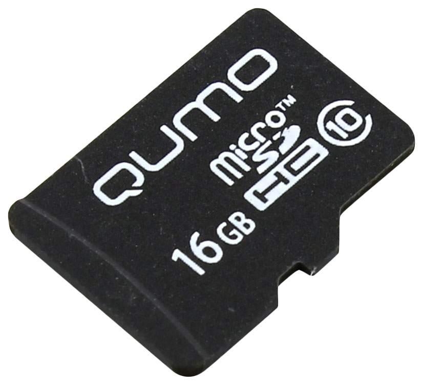 Карта памяти QUMO Micro SDHC QM16GMICSDHC10 16GB