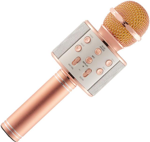Беспроводной караоке-микрофон WS-858 Rose Gold
