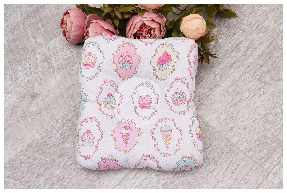 Подушка для кормления и сна AmaroBaby Baby Joy Пироженки AMARO-40BJ-PR