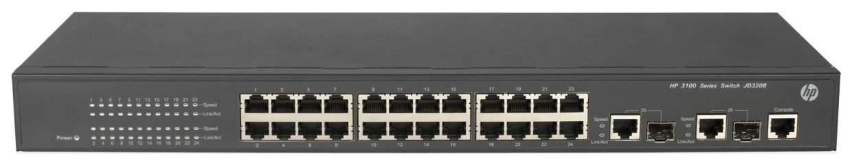 Коммутатор HP 3100-24 JD320B Черный