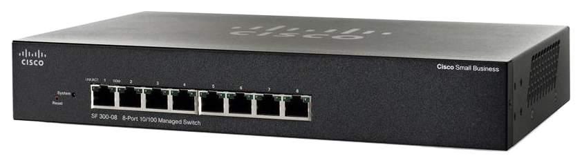 Коммутатор Cisco Small Business 300 Series SF300-08 Черный