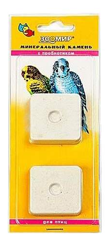 Камень для заточки клюва Зоомир С пробиотиком для птиц, 50 г, 2 шт