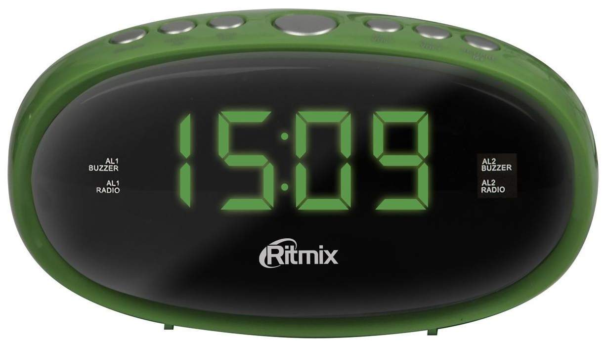 Радио-часы Ritmix RRC-616 Green
