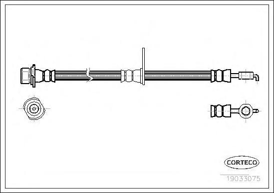 Шланг тормозной Corteco 19033075