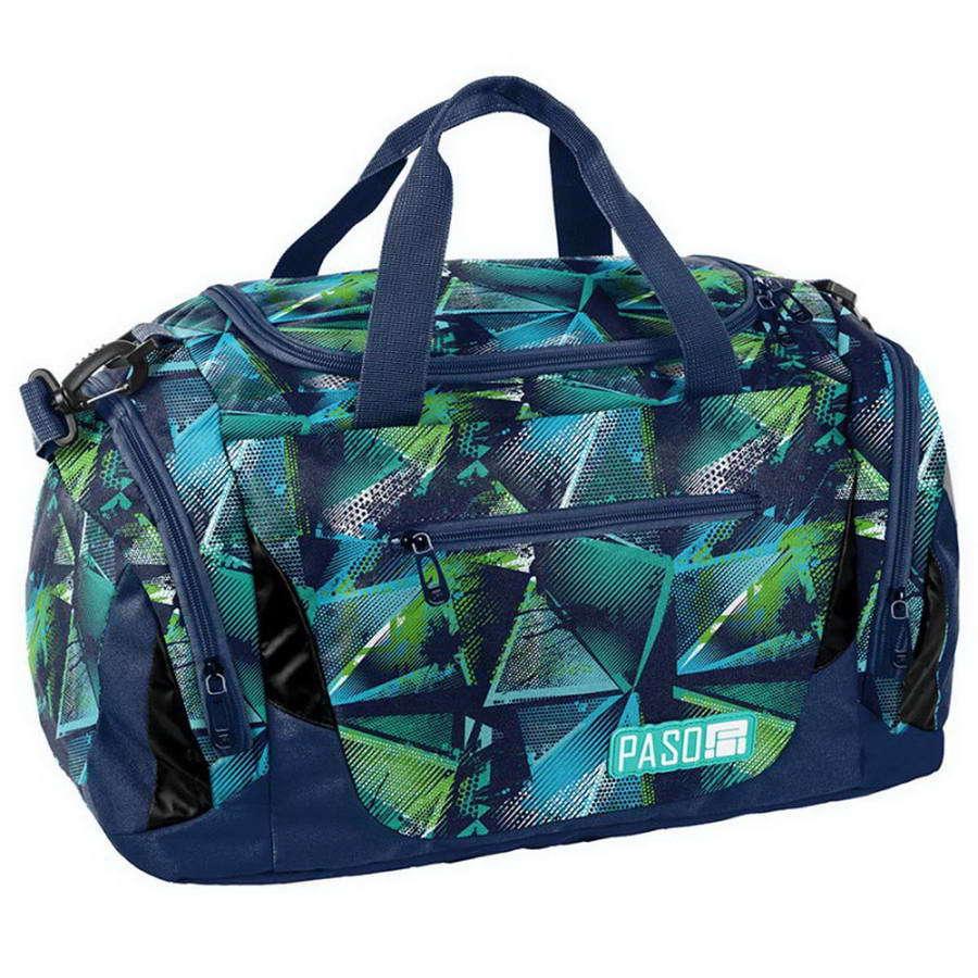 Дорожная сумка Paso Triangles Blue 44 x 23,5 x 23