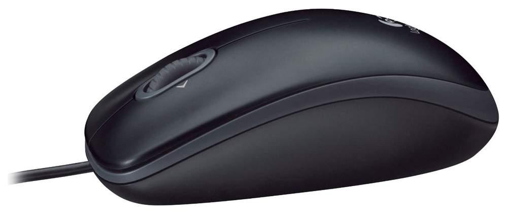 Проводная мышка Logitech M100 Grey/Black (910-001604)