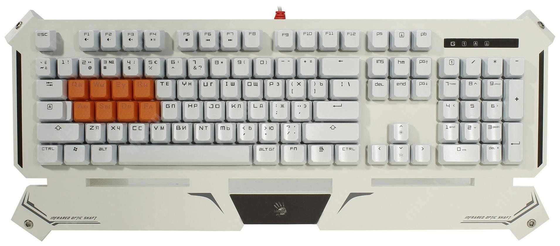 Игровая клавиатура A4Tech Bloody B740 White