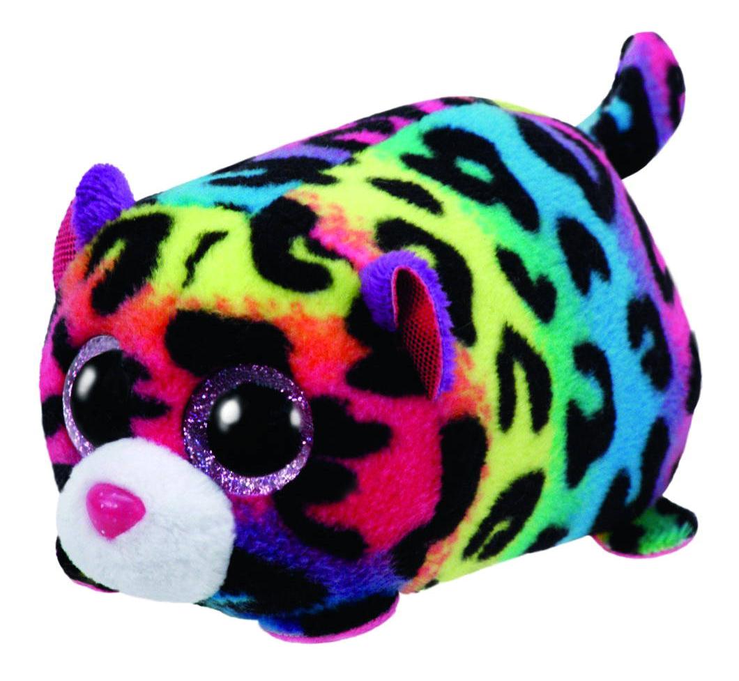 Мягкая игрушка TY Teeny Леопард (цветной) Jelly 10 см