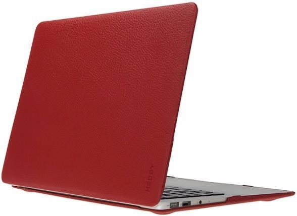 "Чехол для Macbook Pro 15"" Heddy Leather Hardshell red"