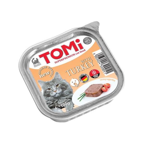 Консервы Tomi с индейкой для кошек (100 г)