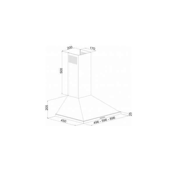 Вытяжка купольная Simfer 8564SM White