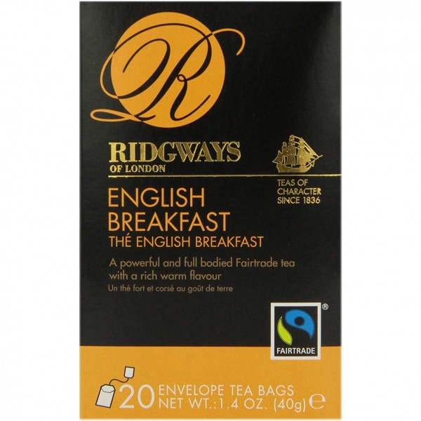Чай черный Ridgways of London английский завтрак 20 пакетиков