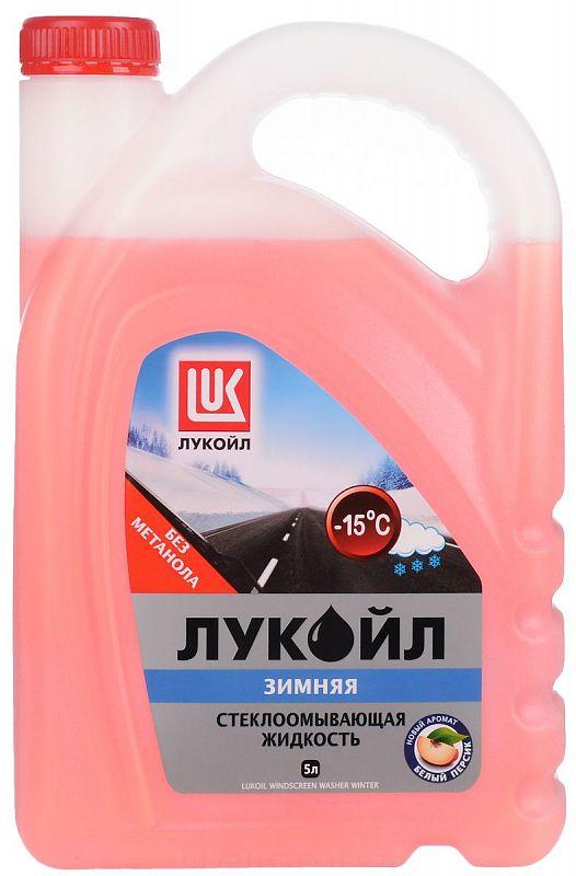 Жидкость стеклоомывателя Лукойл, -15°С, 5 л
