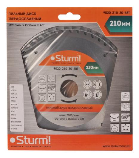Диск по дереву для дисковых пил Sturm! 9020-210-30-48T