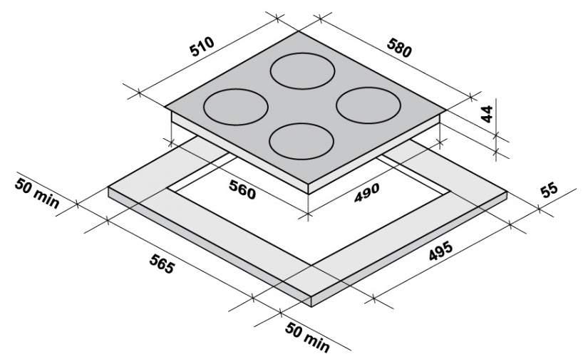 Встраиваемая варочная панель газовая Korting HG 645 CTX Silver