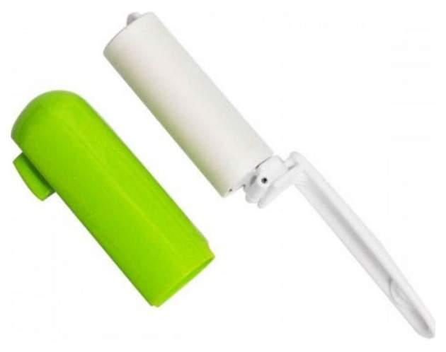 Портативный липкий валик  Nitoms для сбора шерсти животных с одежды зеленый