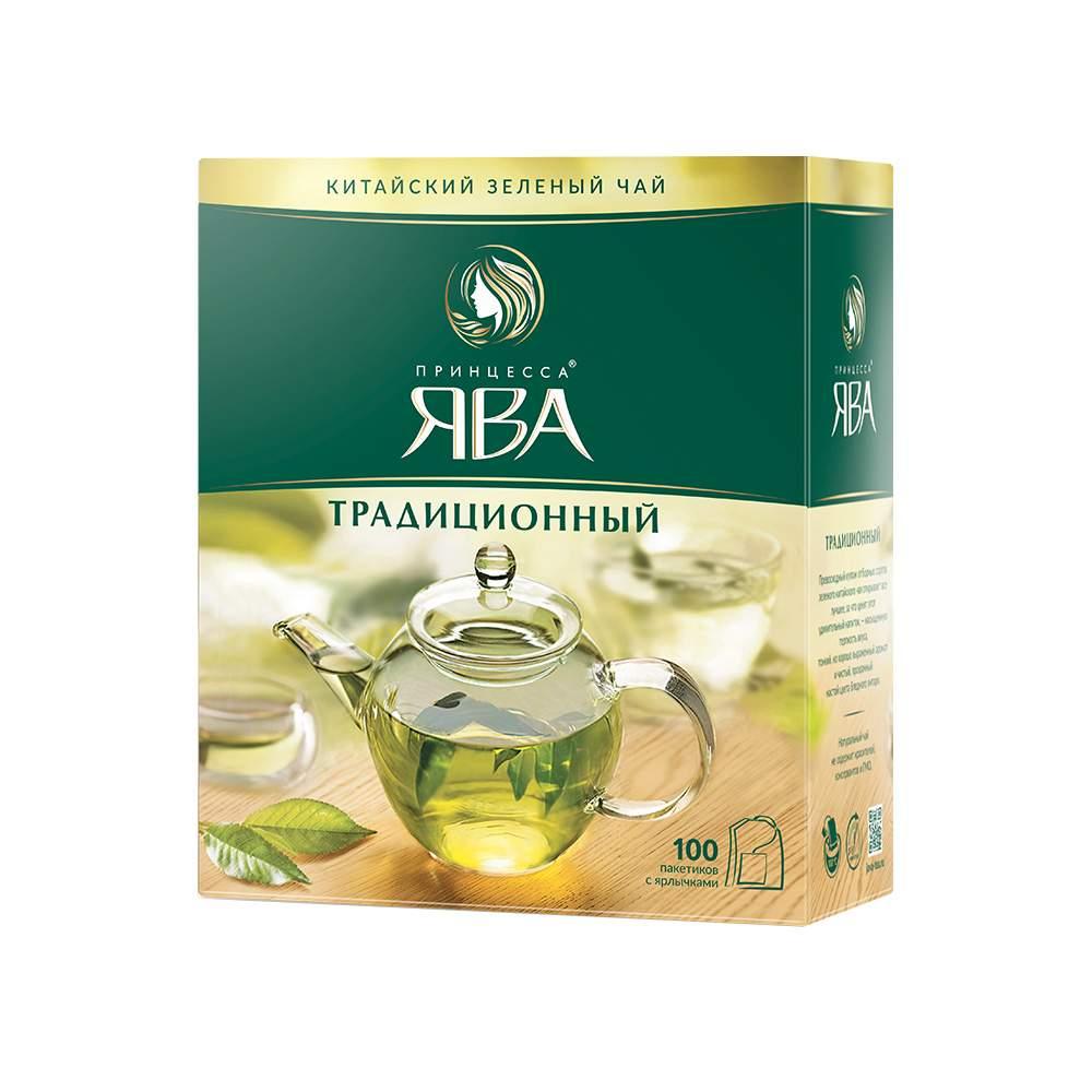 Чай зеленый Принцесса Ява Традиционный 100 пакетиков