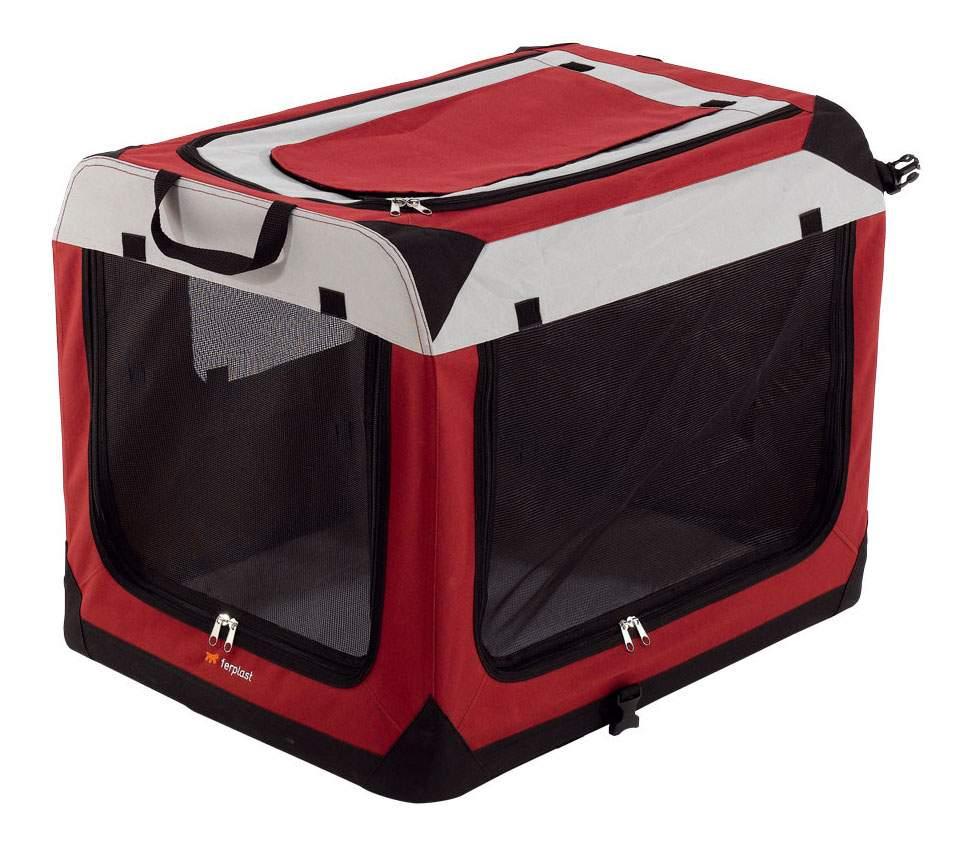 Переноска Ferplast holiday 6 52x70x52см красный, черный